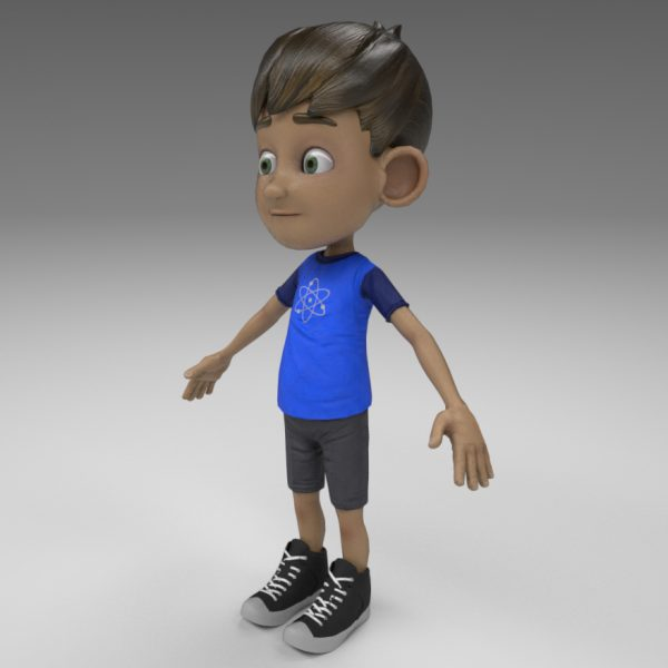 Niño Cartoon para Realidad Virtual